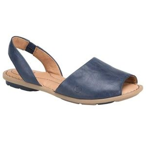 NEW Born Trang Peacoat Blue Leather Sandal